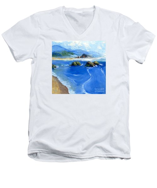 Misty Bodega Bay Men's V-Neck T-Shirt