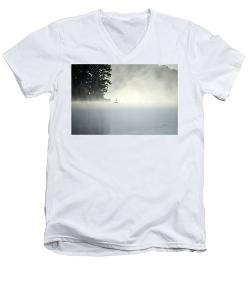 Misty Heron Men's V-Neck T-Shirt