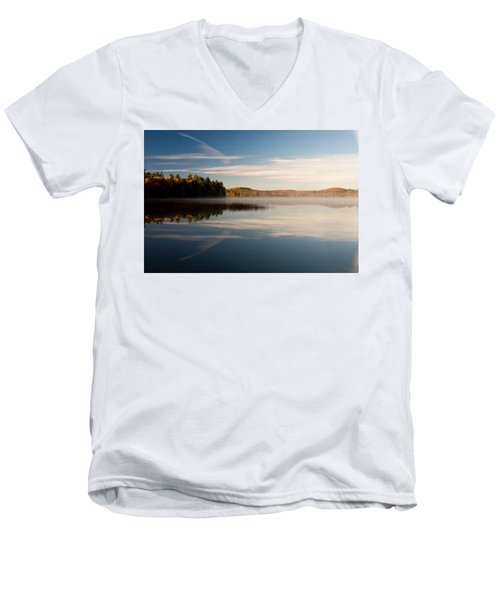 Misty Morning Men's V-Neck T-Shirt by Brent L Ander