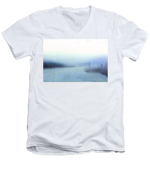 Misty Morning Men's V-Neck T-Shirt by Catherine Alfidi