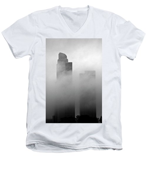 Misty Morning Flight Men's V-Neck T-Shirt