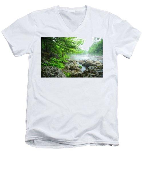 Misty Waters Men's V-Neck T-Shirt