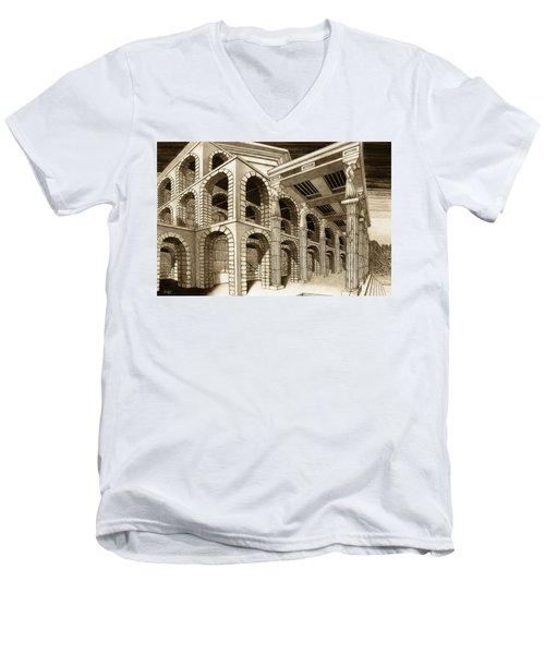 Mithlond Gray Havens Men's V-Neck T-Shirt by Curtiss Shaffer