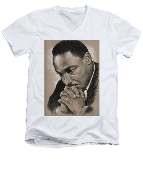 MLK Men's V-Neck T-Shirt
