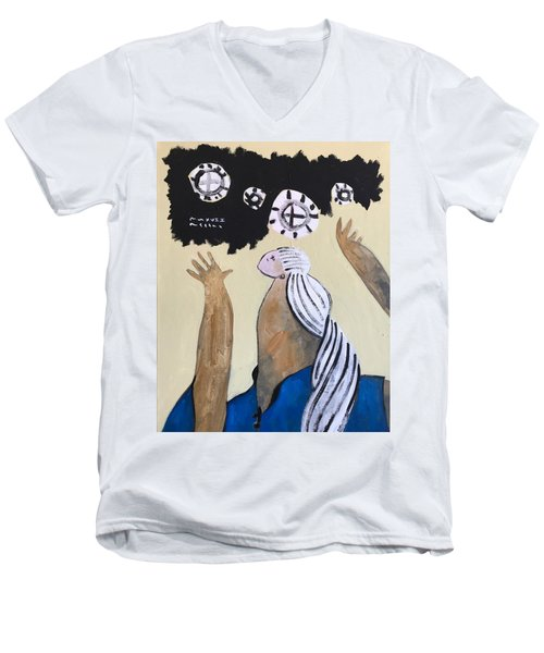 Mmxvii The Ascension No 4 Men's V-Neck T-Shirt