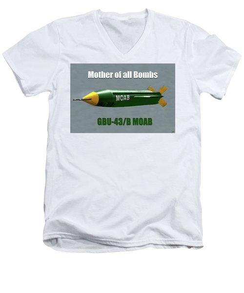 Men's V-Neck T-Shirt featuring the painting Moab Gbu-43/b by David Lee Thompson