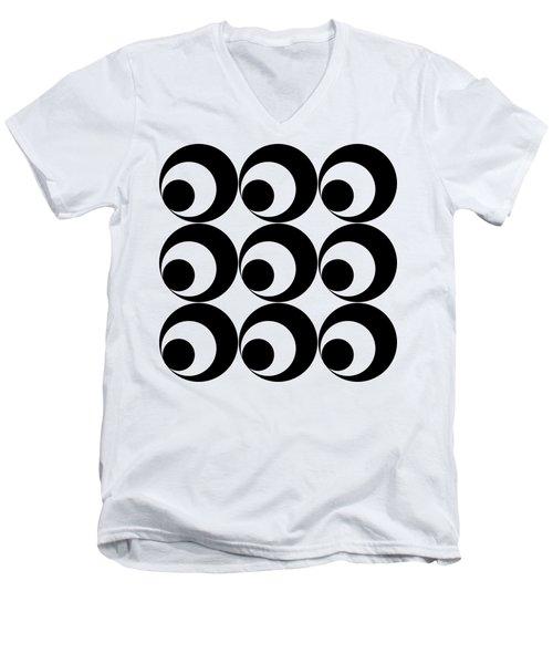 Mod Circles  Men's V-Neck T-Shirt