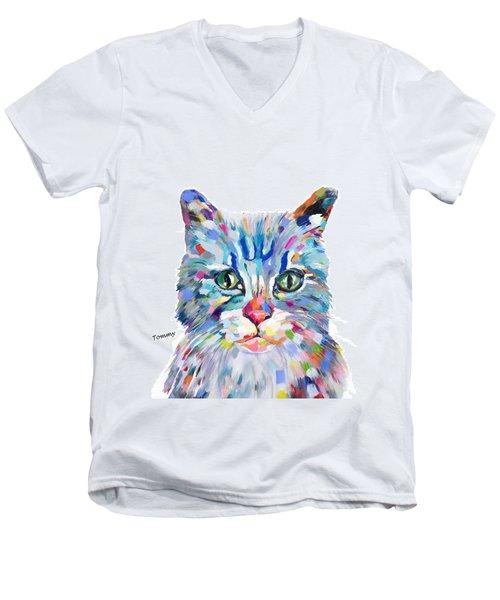 Modern Cat Men's V-Neck T-Shirt