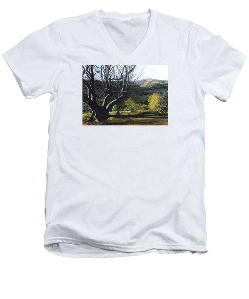 Moel Famau From Loggerheads Men's V-Neck T-Shirt