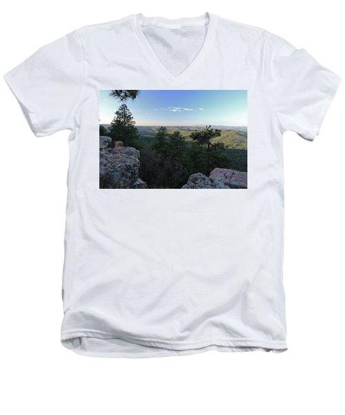 Mogollon Morning Men's V-Neck T-Shirt by Gary Kaylor