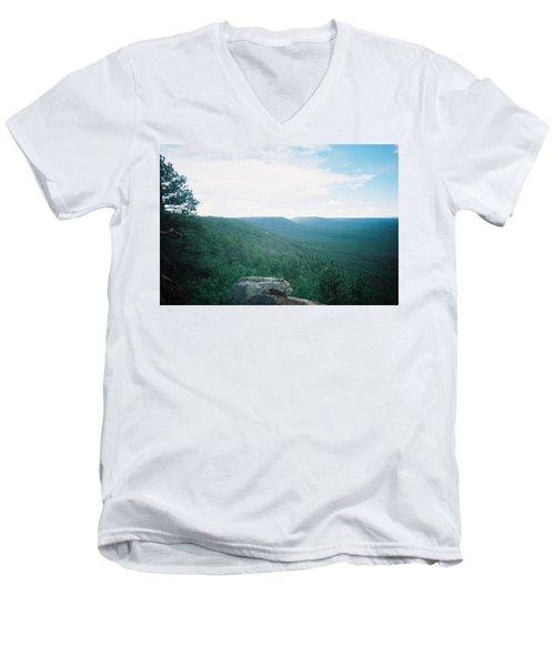Mogollon Rim - Arizona Men's V-Neck T-Shirt by Pamela Walrath