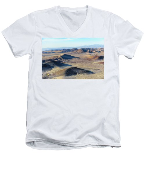 Men's V-Neck T-Shirt featuring the photograph Mojave Desert by Jim Thompson