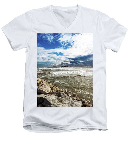 Mole Stones  In Rimini Men's V-Neck T-Shirt
