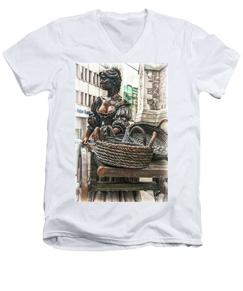 Men's V-Neck T-Shirt featuring the photograph Molly Malone by Hanny Heim