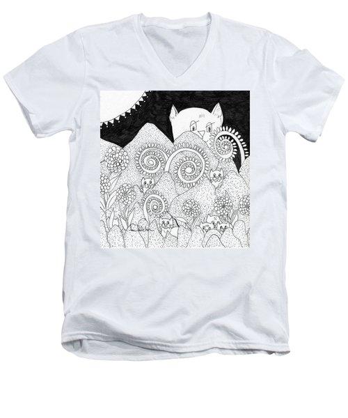Mom Sees All Men's V-Neck T-Shirt by Lou Belcher