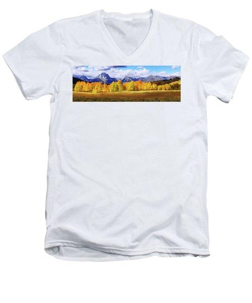 Moment Men's V-Neck T-Shirt by Chad Dutson