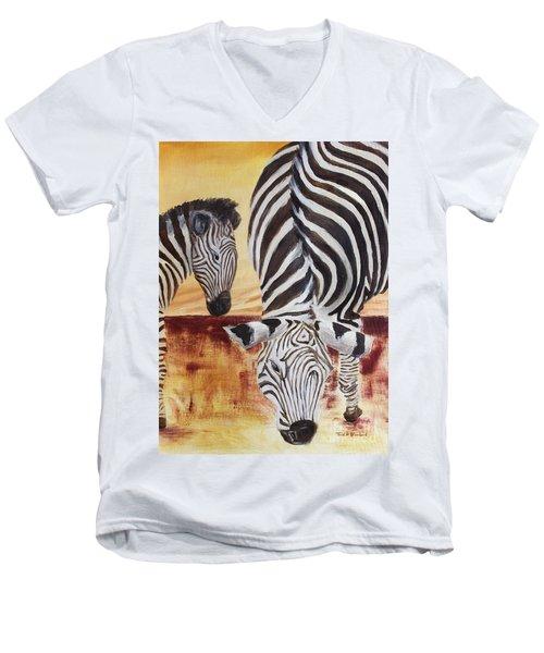 Momma And Baby Men's V-Neck T-Shirt