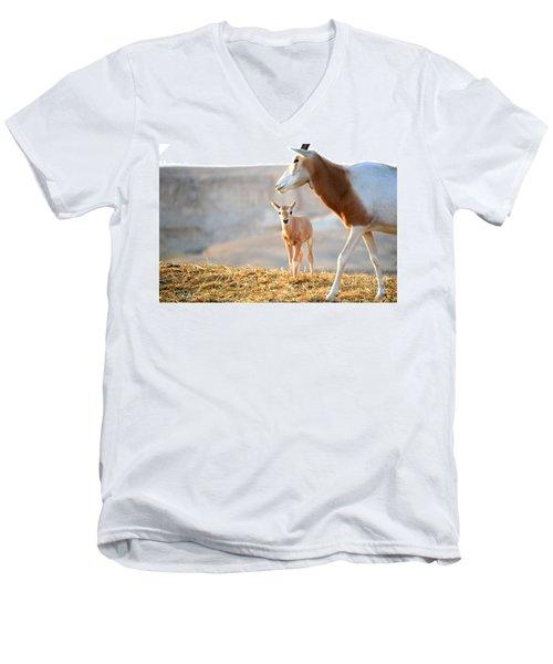 Mom's Supervision Men's V-Neck T-Shirt by Arik Baltinester