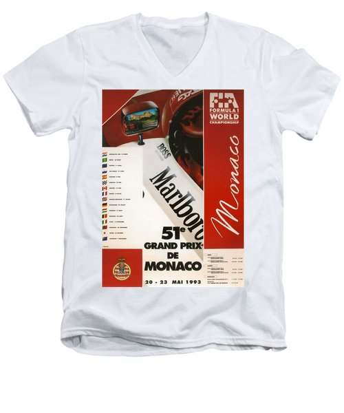 Monaco F1 1993 Men's V-Neck T-Shirt