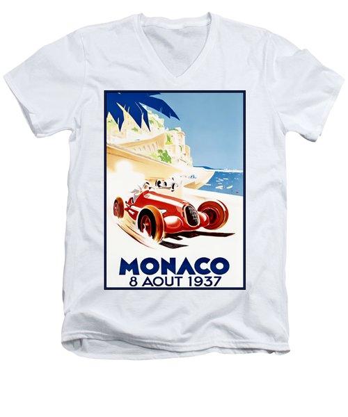 Monaco Grand Prix 1937 Men's V-Neck T-Shirt