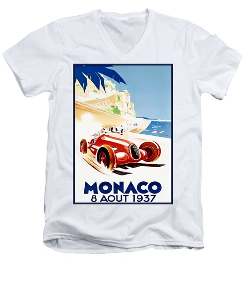 Monaco Grand Prix 1937 Men's V-Neck T-Shirt