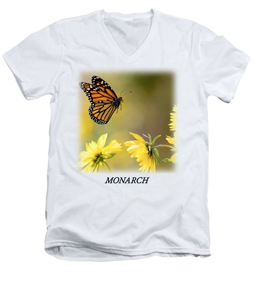 Monarch Butterfly T-shirt Men's V-Neck T-Shirt