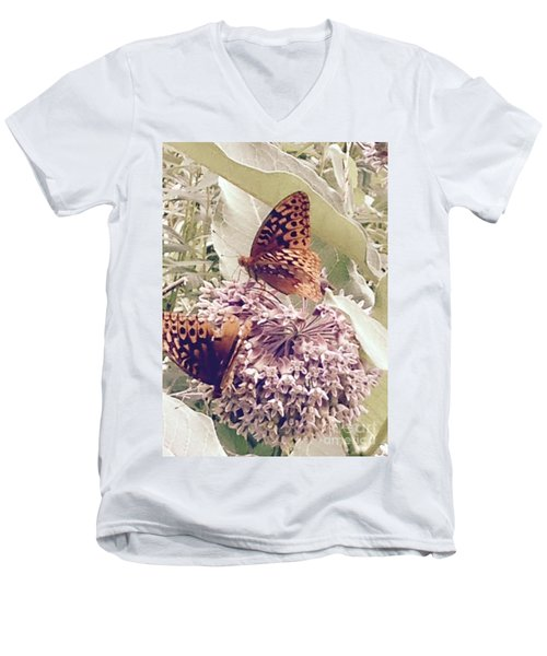 Monarch's On Milkweed Men's V-Neck T-Shirt