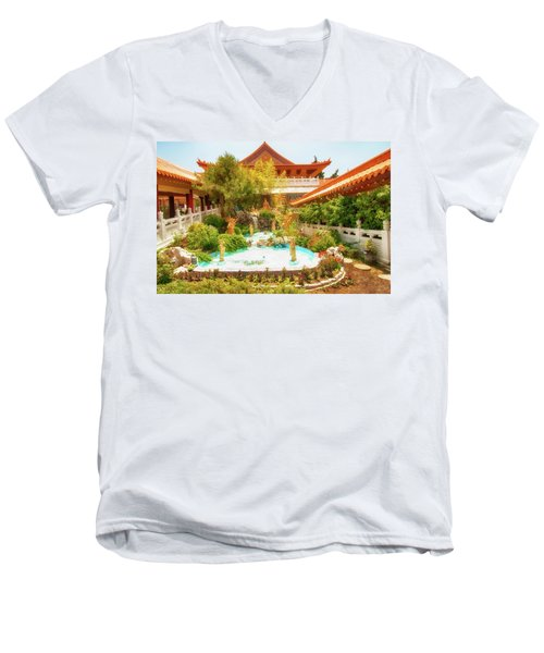 Men's V-Neck T-Shirt featuring the photograph Monastery by Joseph Hollingsworth