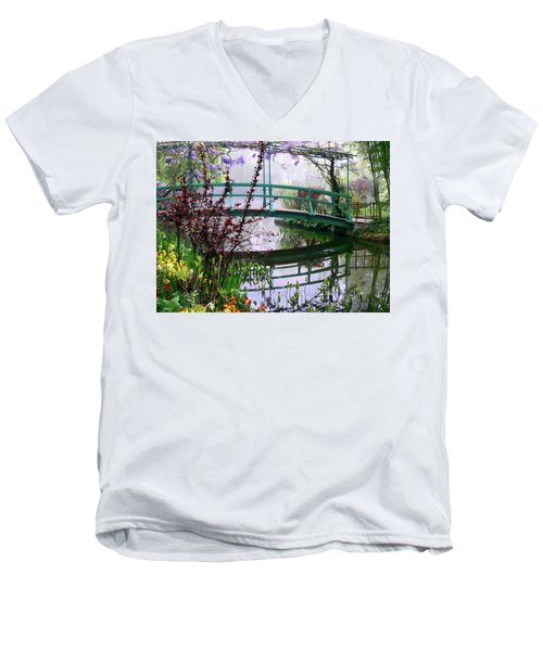 Monet's Bridge Men's V-Neck T-Shirt