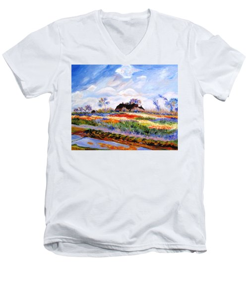 Monet's Tulips Men's V-Neck T-Shirt