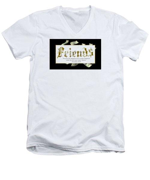 Money Friends Men's V-Neck T-Shirt