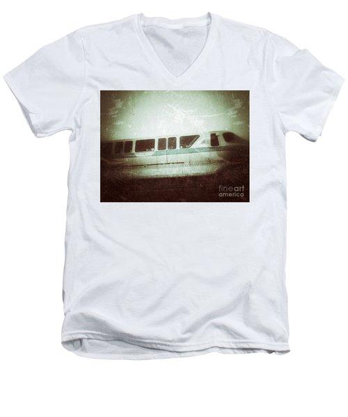Monorail Men's V-Neck T-Shirt by Jason Nicholas