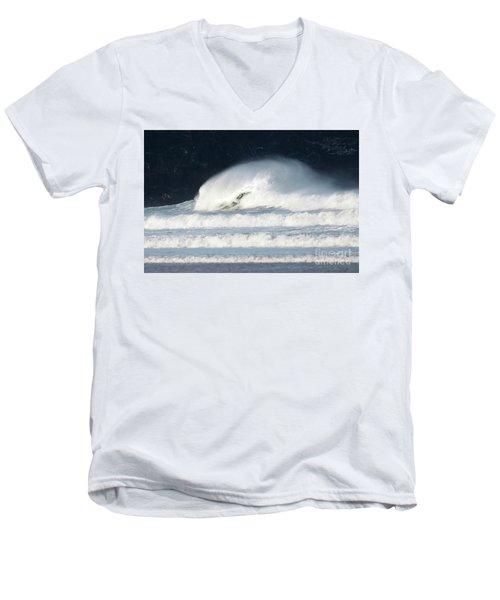 Men's V-Neck T-Shirt featuring the photograph Monster Wave by Nicholas Burningham