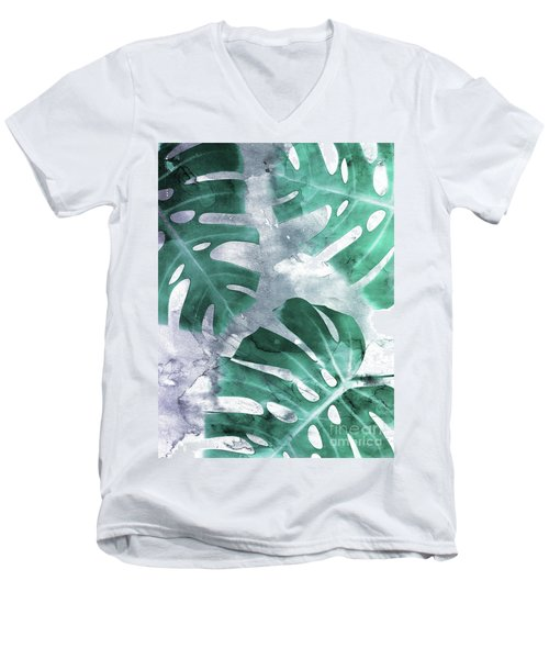 Monstera Theme 1 Men's V-Neck T-Shirt