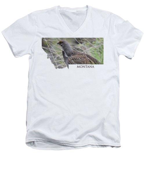 Montana- Dusky Grouse Men's V-Neck T-Shirt