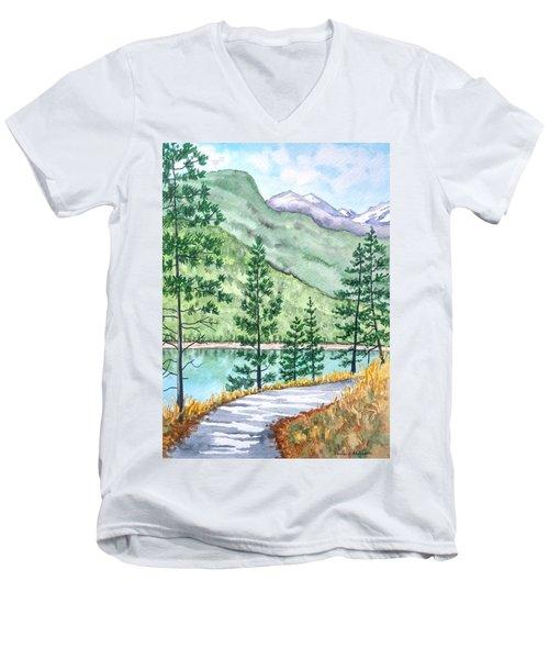Montana - Lake Como Series Men's V-Neck T-Shirt