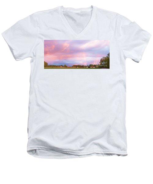 Montana Sunset 1 Men's V-Neck T-Shirt