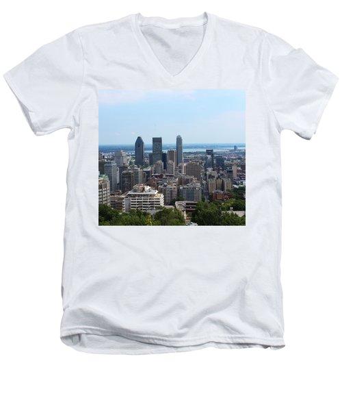 Montreal Cityscape Men's V-Neck T-Shirt