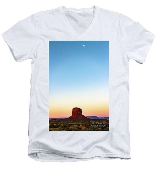 Monument Valley Morning Glory Men's V-Neck T-Shirt