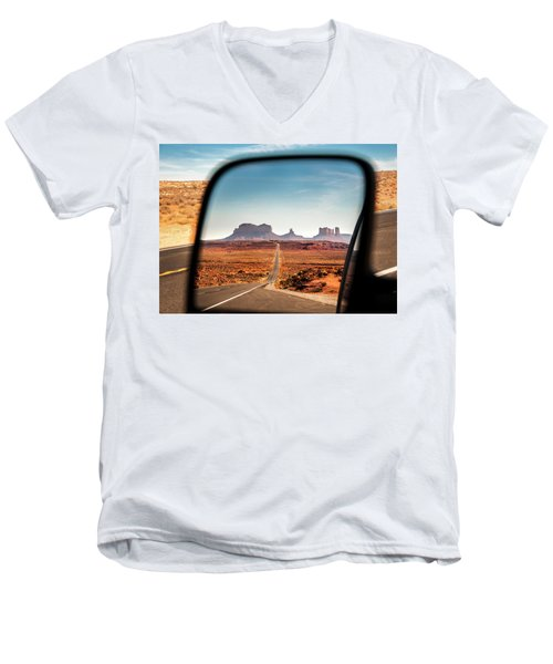 Monument Valley Rearview Mirror Men's V-Neck T-Shirt