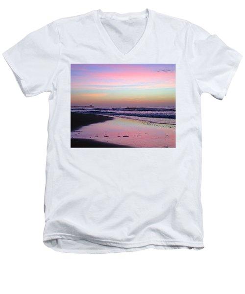Moody Sunrise Men's V-Neck T-Shirt