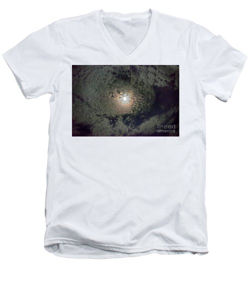 Moon And Clouds Men's V-Neck T-Shirt
