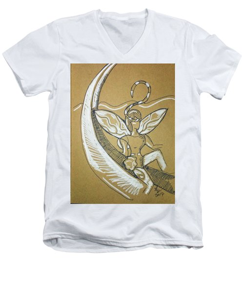 Moon Fairy Men's V-Neck T-Shirt
