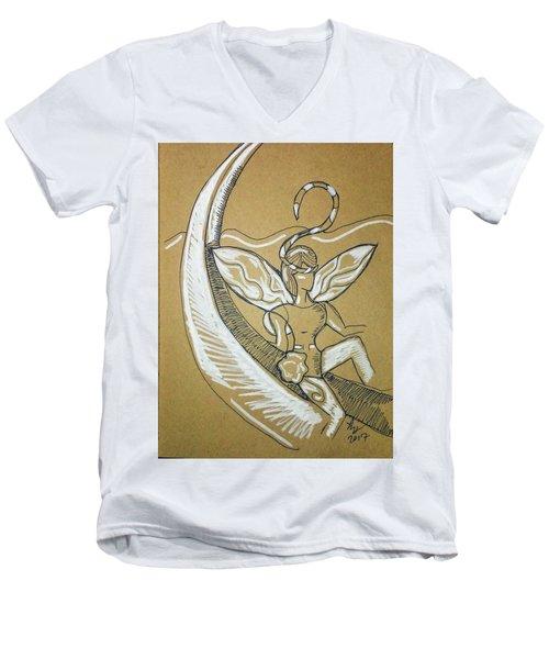Moon Fairy Men's V-Neck T-Shirt