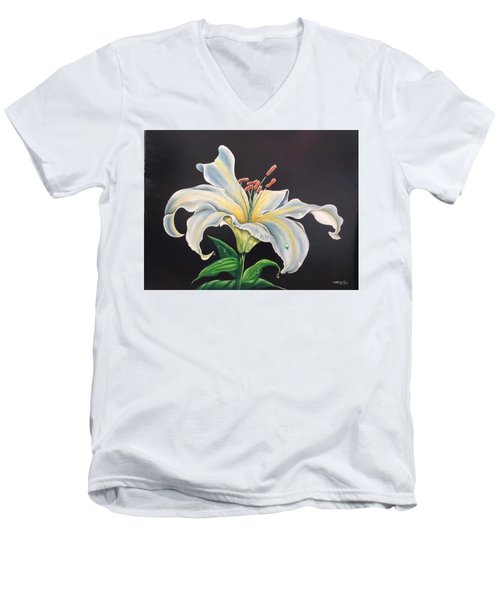 Moon Light Lilly Men's V-Neck T-Shirt