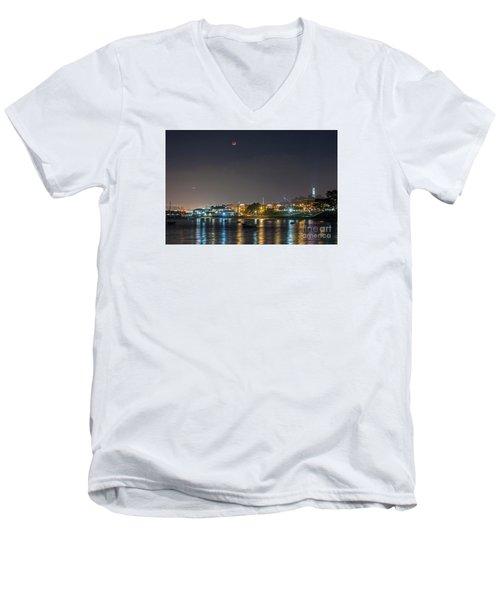 Moon Over Aquatic Park Men's V-Neck T-Shirt