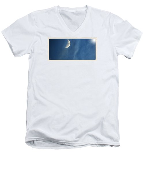 Moon Roof  Men's V-Neck T-Shirt by Laura Ragland