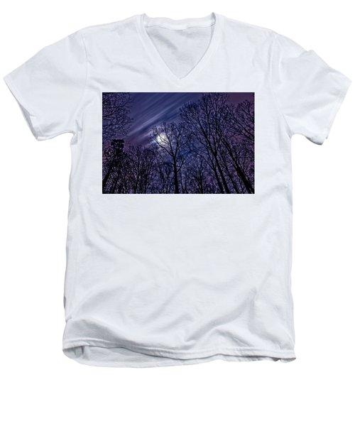 Moonlight Glow Men's V-Neck T-Shirt