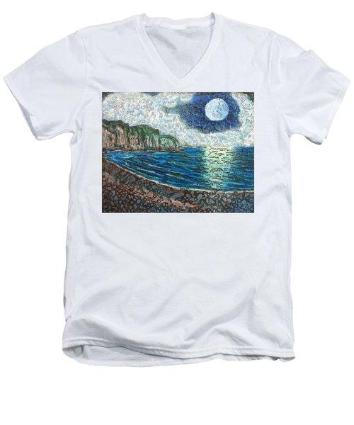 Moonlight In Pourvill Men's V-Neck T-Shirt
