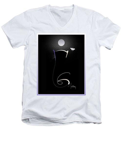 Moonlight Rendezvous 3 Men's V-Neck T-Shirt